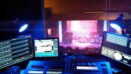 Concert Lighting Setup At The Egyptian Theatre Peter Helm